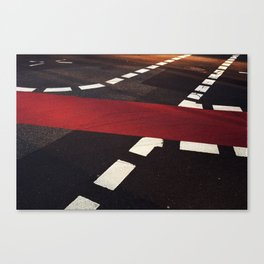 road paintings (red carpet) Canvas Print
