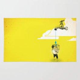 "Glue Network Print Series ""Water / Hygiene / Sanitation"" Rug"