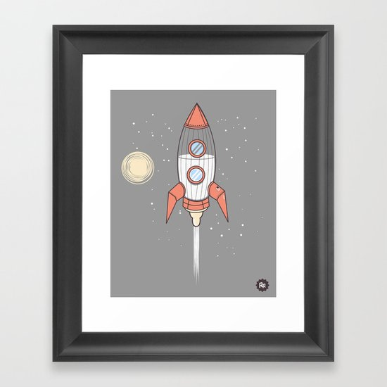 Bottle Rocket Framed Art Print