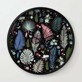 Magic Garden / Floral Pattern Wall Clock