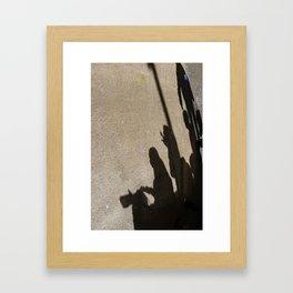 Boys and girls Framed Art Print