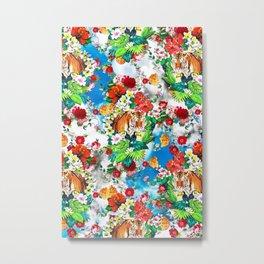 botanical flower garden Metal Print