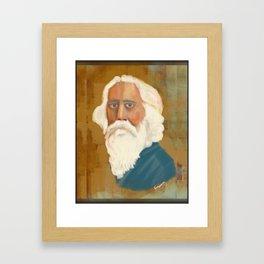 Portrait of Rabindranath Tagore Framed Art Print