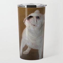 Little Beggar - White French Bulldog Travel Mug