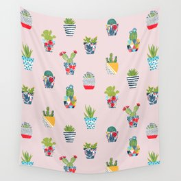Funny cacti illustration Wall Tapestry
