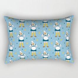 Vintage Dutch Girl Pattern Rectangular Pillow