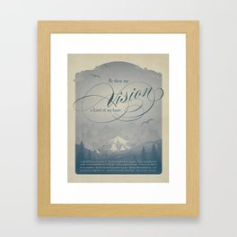 Be Thou My Vision Framed Art Print