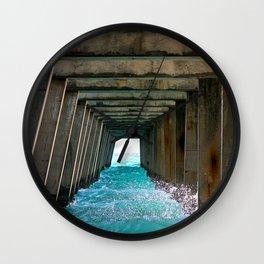Juno Beach Ocean Pier Wall Clock