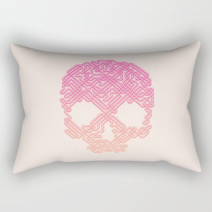 Labyrinthine Skull - Tropical Rectangular Pillow