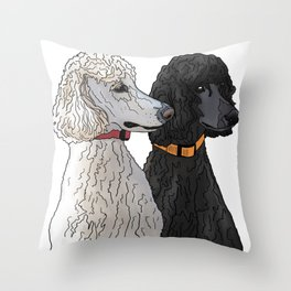 Pair of Poodles Throw Pillow