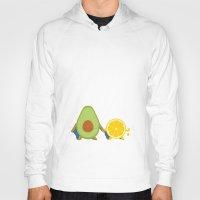 avocado Hoodies featuring Avocado & Lemon by Ororon