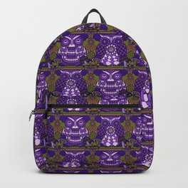 A Parliament of Owls Plum Backpack