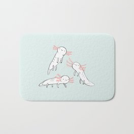 Three Little Axolotls Bath Mat