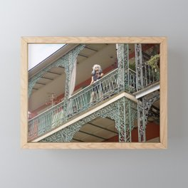 New Orleans Lady Mannequin on a Balcony Framed Mini Art Print