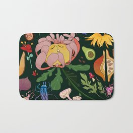 Magical flowers of Lamiak Bath Mat