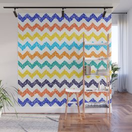Chevron dotted background. Modern texture. Wall Mural