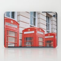 telephone iPad Cases featuring Telephone boxes by For the easily distracted...