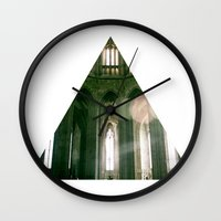 religious Wall Clocks featuring Thank god, I'm not religious. by Kilian Guenthner