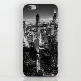Chicago Skyline at Night iPhone Skin