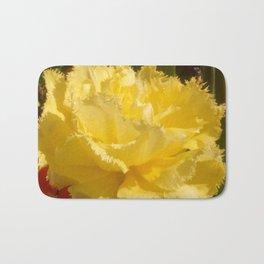 Sunny Yellow Tulip Bath Mat