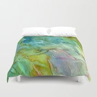 stained glass Duvet Covers featuring Stained Glass by Rosie Brown