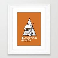 clockwork orange Framed Art Prints featuring Clockwork orange by Cardula