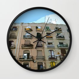 Barcelona Building  Wall Clock