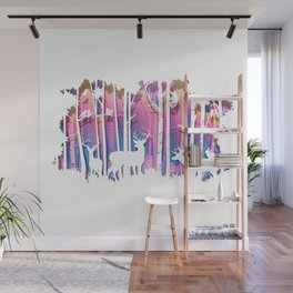Silhouette Deep Forest & Animals 01 Wall Mural