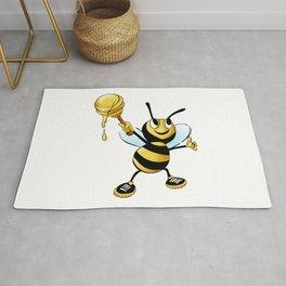 Bumble Bee with Honey Rug