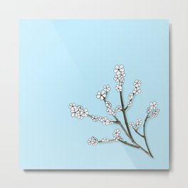 Paper and Twigs Metal Print