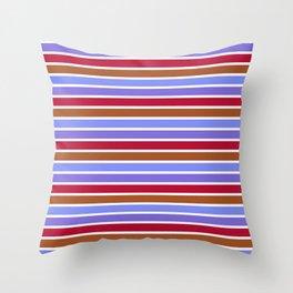 Modern violet red brown geometrical stripes pattern Throw Pillow