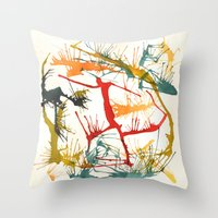 politics Throw Pillows featuring Contemporary Politics by Andready