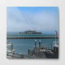 Alcatraz On A Foggy Morning Metal Print