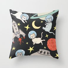 cosmo cats Throw Pillow