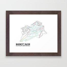 Marmot Basin, Alberta, Canada - Minimalist Trail Art Framed Art Print