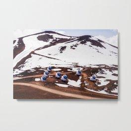 Mauna Kea Observatory Hawaï | The Big Island Nasa, Snow, vulcano | Photo Print | pastel - travel - photography - art print Metal Print