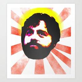 Zach Galifianakis Died for our Sins Art Print