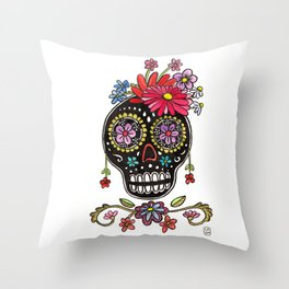Calaca Fridita Throw Pillow