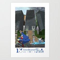 13eme Arrondissement Art Print
