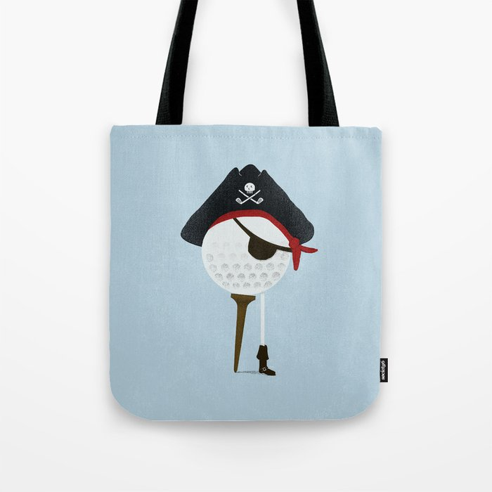 Pirate of the Open Tees Tote Bag