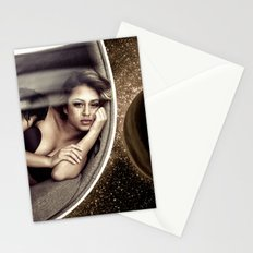 Sad walk in Space Stationery Cards