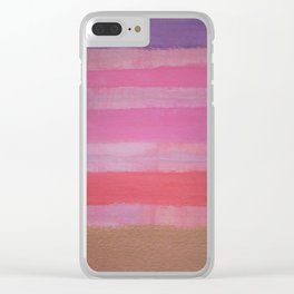 Thick Bronzed Stripes Clear iPhone Case