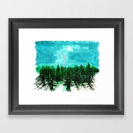 Night Walk Framed Art Print