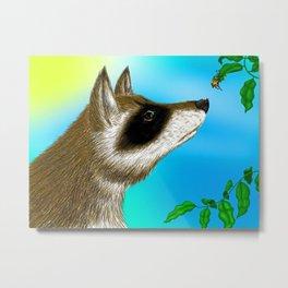 Raccoon and The Beetle Metal Print