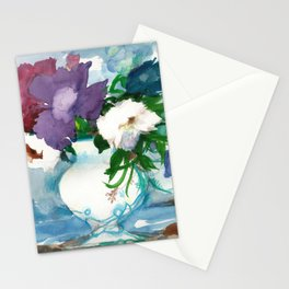 Flowers. Watercolor Bouquet Stationery Cards