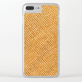 Bright hessian texture abstract Clear iPhone Case
