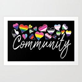 Community - LGBTQA Art Print