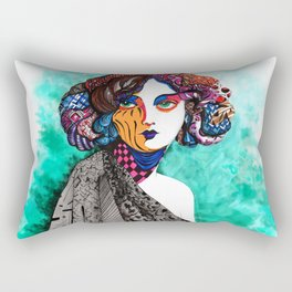 """When the muse come to visit"" Rectangular Pillow"