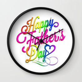 happy father day pride t shirt  Wall Clock