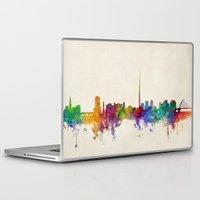 dublin Laptop & iPad Skins featuring Dublin Ireland Skyline Cityscape by artPause